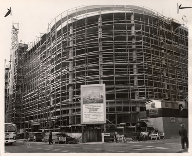 Construction of Mason O'Farrell (then known as the Downtown Center Garage)